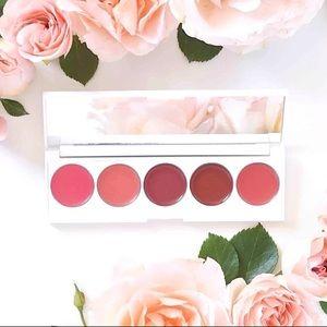 NIB Lip & Cheek Palette SERAPHINE BOTANICALS Rhubarb Creamy Rose